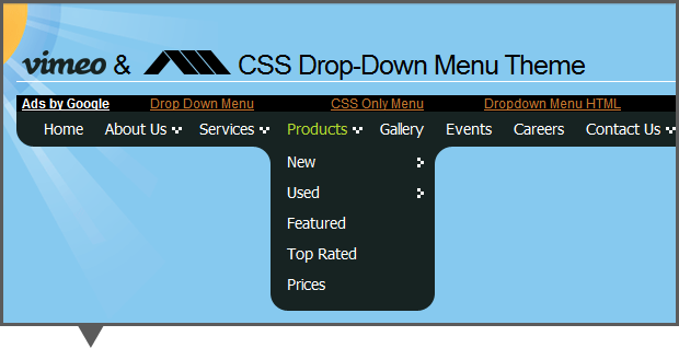 Creative Dropdown Menu Resources