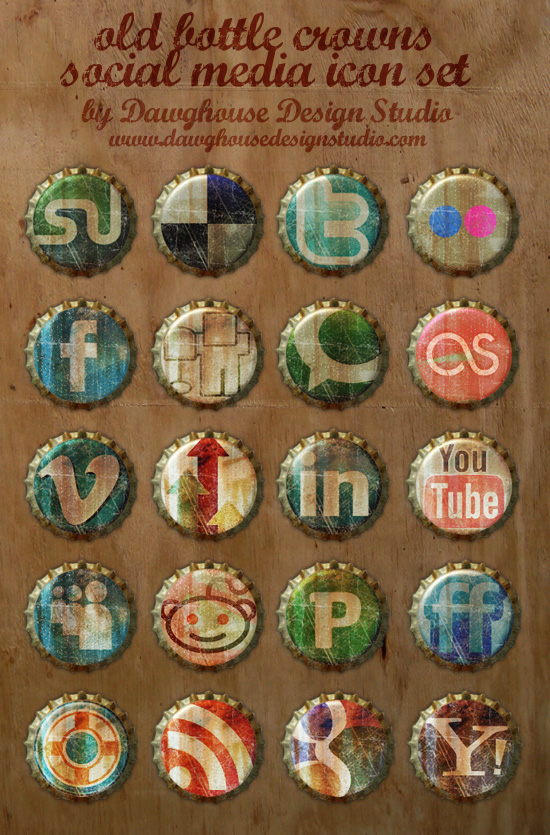 33 Artistic & Free Social Media Icons Sets