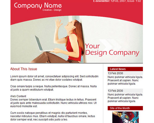 Free Email Templates for News Letter