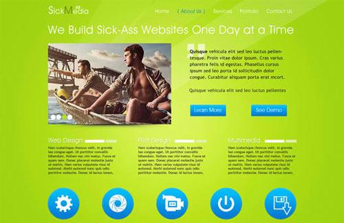 Creative Free PSD Website Templates